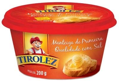 melhores marcas de manteiga de primeira qualidade tirolez