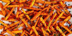 receita de batatas doces fritas de forno